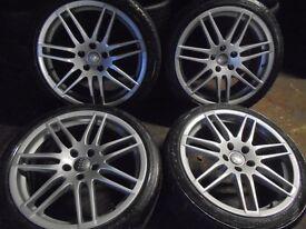"""18"""" rs4 S LINE le mans alloys wheels audi a4 a6 a8 a3 5x112 golf vw caddy t4"""