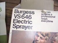 Burgess Electric Paint Spray Gun