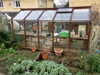 Wooden greenhouse, fairly poor condition 2.4m x 4m