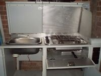 We have available a complete camper interior unit with sink etc which can be purchased .