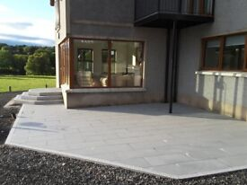 DARK GREY NATURAL GRANITE PAVING SLABS (SOLID STONE) **GRADE A**