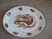 Large overall bone China plate