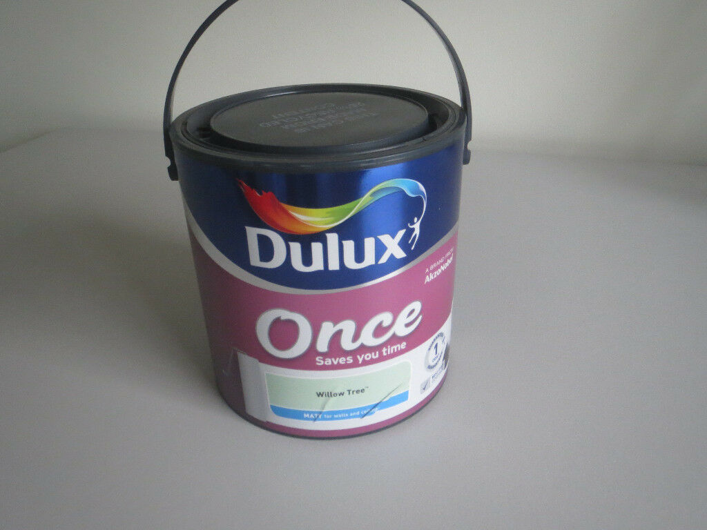 Dulux once emulsion paint 'willow tree' 2.5l