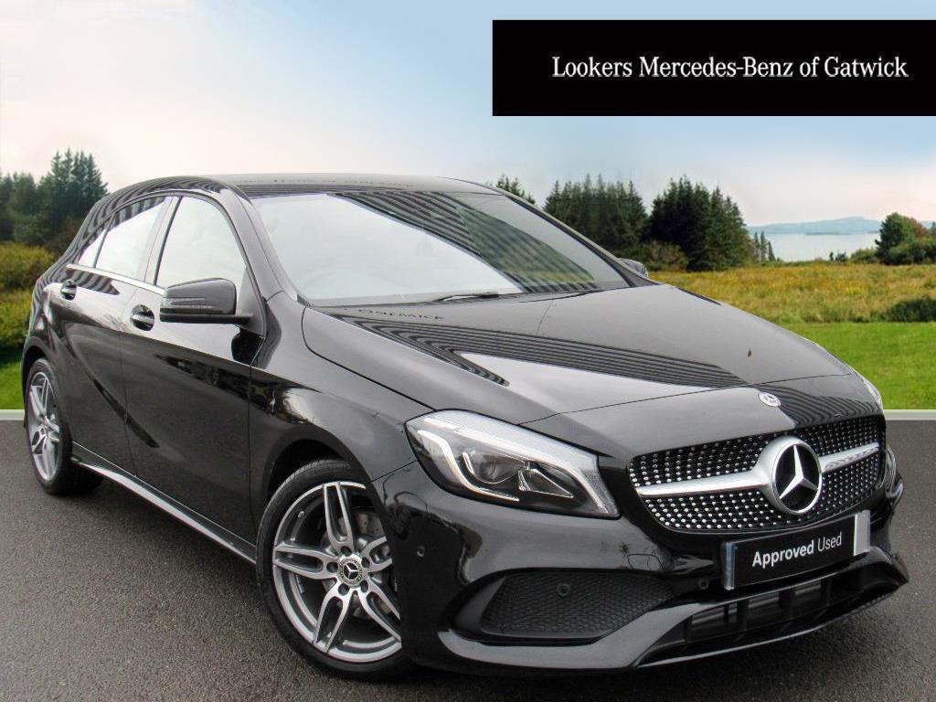 mercedes benz a class a 200 d amg line premium black 2018 01 29 in crawley west sussex. Black Bedroom Furniture Sets. Home Design Ideas