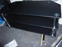 black glass tv stand upto 70 inch tv £15