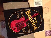 Beatles sew on badge original 1964 fan club with envelope stamped