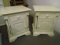 Bedside cabinets, x 2