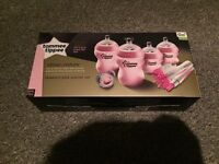 Brand new Tommee tippee pink bottles