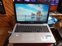 asus x55a windows 10 4g memory 500g hard drive charger webcam wifi dvd drive hdmi batter