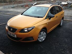 2011 Seat Ibiza Estate in Excellent Condition 90mpg fuel economy £0 tax large boot.