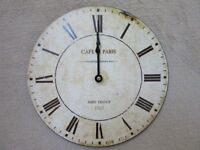 Reproduction French antique-style wall clock (battery operated)