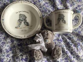 Christening Gift Set me to you bear