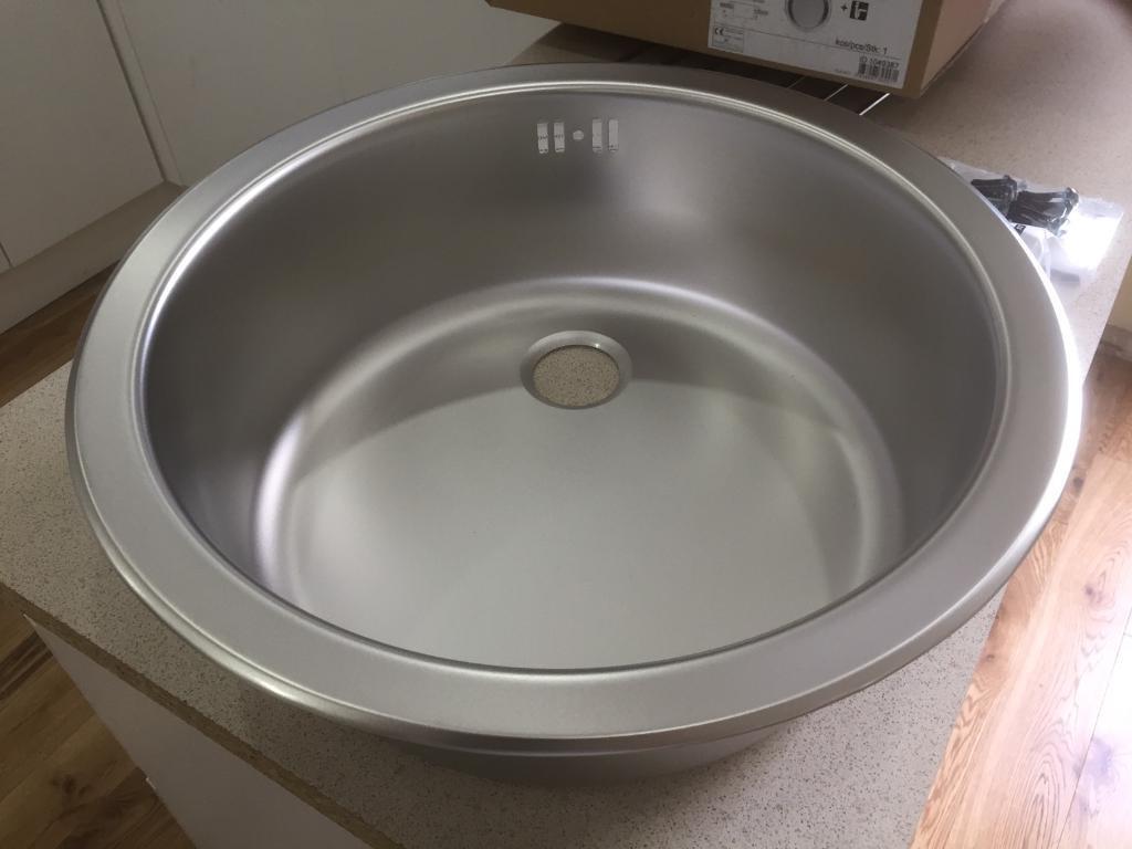 round stainless steel kitchen sink. beautiful ideas. Home Design Ideas