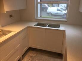 White Sparkly Kitchen Worktops