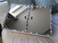 Bathroom cabinet with mirror and mosaic detail