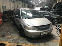 Chrysler grand voyager 2.5 crd Manual Breaking For Spares 2.8 crd auto silver