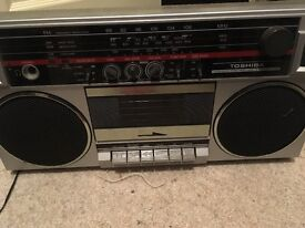Vintage toshiba stereo radio Cassette rt-90s