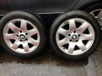 BMW 3 SERIES E46 2000-05 ALLOY WHEELS WITH TYRES 205/55ZR16