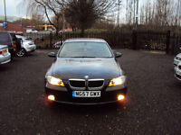 BMW 3 SERIES 318i ES 2.0 PETROL 4 DR SALOON BLACK 6 SPEED AUX EXTRAS F.S.H LONG MOT 2KEYS LADY OWNER
