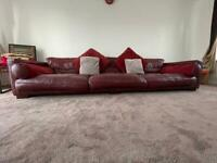 4 Seater DFS Leather Sofa