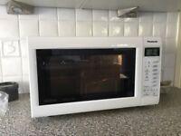 Panasonic Inverter Slimline Combi Microwave in white