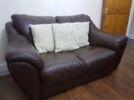 Amazing leather sofa- 3 seater and a 2 seater