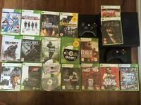 XBOX 360 E 250GB + 21 GAMES (GTA 5, FORZA HORIZON 2, COD GHOST, FIFA 14, NBA 2K14..) + 2 Controllers