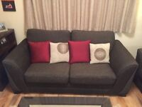 2 and 3 seat sofas with 8 cushions