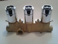CROSSWATER Termo Shower Valve Portrait no Levers & Backplate
