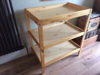Baby Changing Table pine