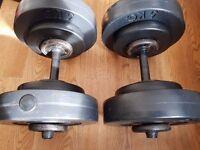 Pair of 15kg dumbbells.30kg total