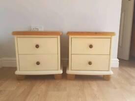 Solid Pine Bedside Tables