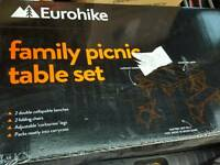 Camping table and chairs
