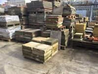 Reclaimed good stock of various sizes of concrete paving