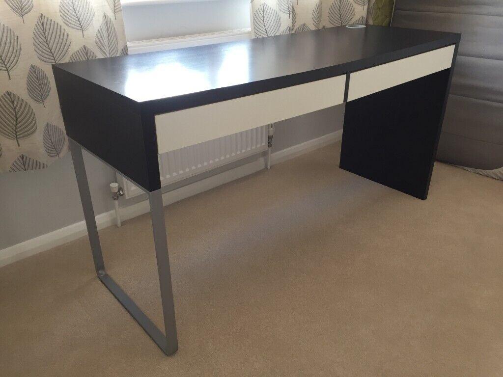 Ikea Micke Desk Black With White Drawers 25 In Blofield Norfolk Gumtree