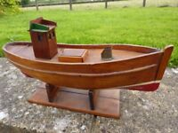 MODEL FISHING BOAT WITH SAILS