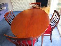 Dining Table and 4 Chairs - Greaves and Thomas of Bond Street - 1967