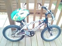 "BOYS BIKE""STRIKER"" FOOTBALL PLUS HELMET £15.AGED 4 TO 6 YRS..IN GOOD USED CONDITION..VIEWING WELCOME"