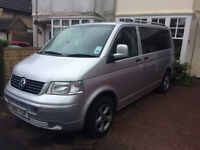 VW Transporter T5 Campervan with wide bed!
