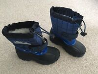 Boys fur lined snow boots