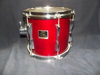 Yamaha stage custom drumkit 7 piece in red,hardware,sabian cymbals,set of 3 rototoms,soft cases.