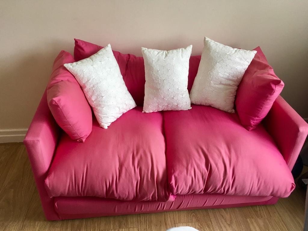 Hot Pink Sofa Bed Hardly Used