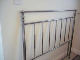 Bed Headboard in Stainless Nickel Steel