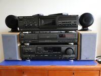 Technics HiFi Separates Amp, CD Player, Tape Deck plus Speakers
