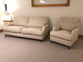 Gower Country Living Grand Sofa & Armchair 1 year Old Excellent Condition