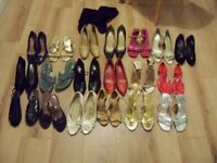 20 PAIRS OF SHOES - VARIOUS SIZES AND STYLES