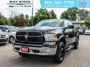 "2014 Ram 1500 OUTDOORSMAN, 4X4,QUAD CAB, 20"" BLACK WHEELS"