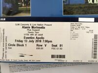 X2 Alanis Morrisette Tickets - Friday 13th July - Hammersmith Apollo
