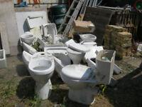 Toilets basins cistern joblot used