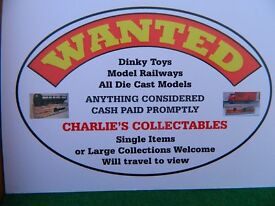 Wanted Vintage, Model Railways, Dinky Toys Etc Cash Paid Large Collections Welcome
